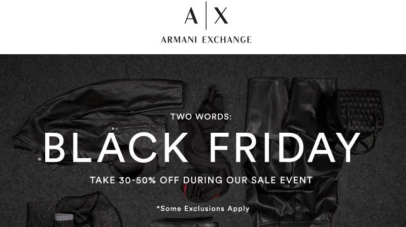 Armani Exchange Coupon May 2017 30-50% off today at Armani Exchange