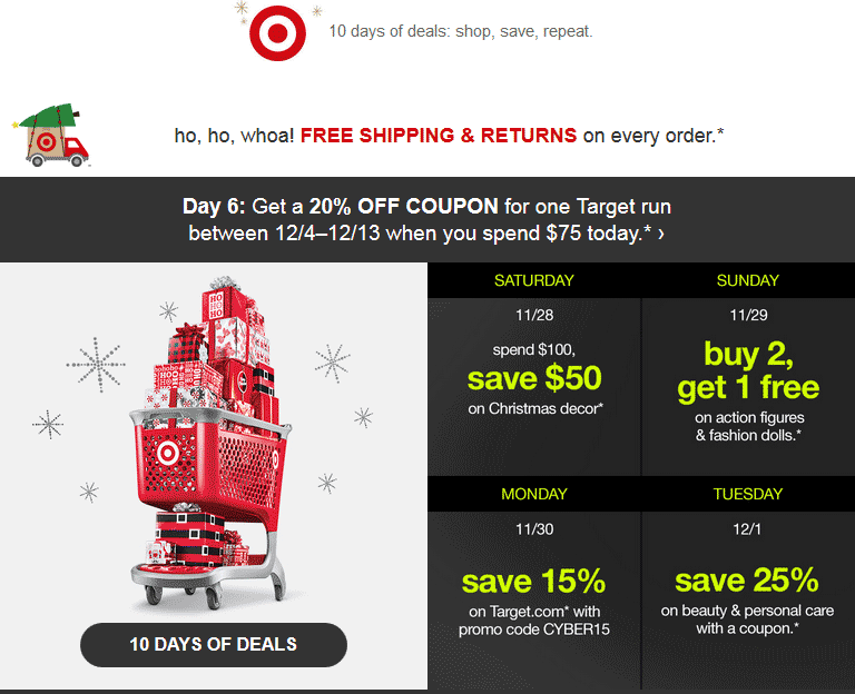 Target.com Promo Coupon 20% off coupon with $75 spent today at Target