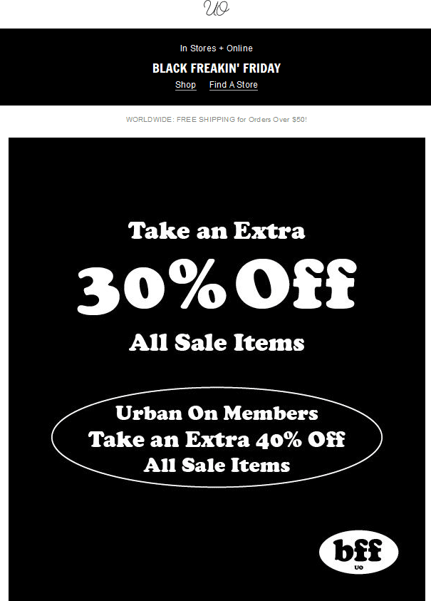 Urban Outfitters Coupon March 2018 Extra 30% off sale items at Urban Outfitters, ditto online