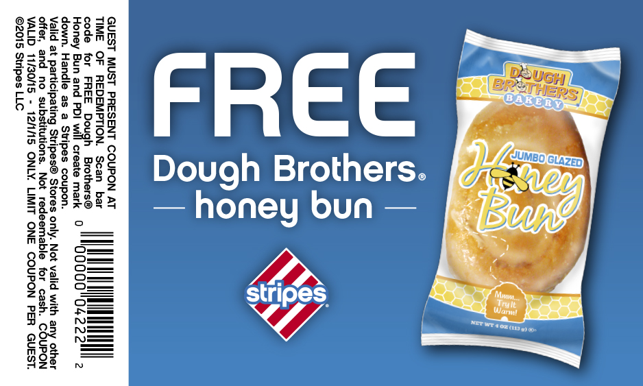 Stripes Coupon October 2016 Free honey bun at Stripes gas stations