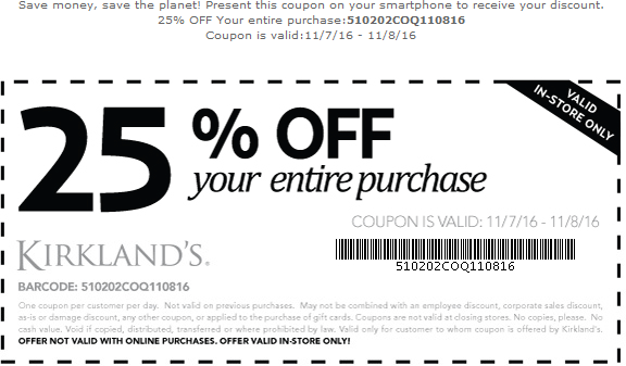 Kirkland Home Decor Coupons Kirklands Printable Coupons September 2015 Printable Printable