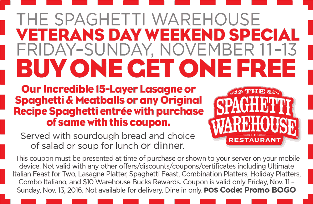 The spaghetti warehouse coupons