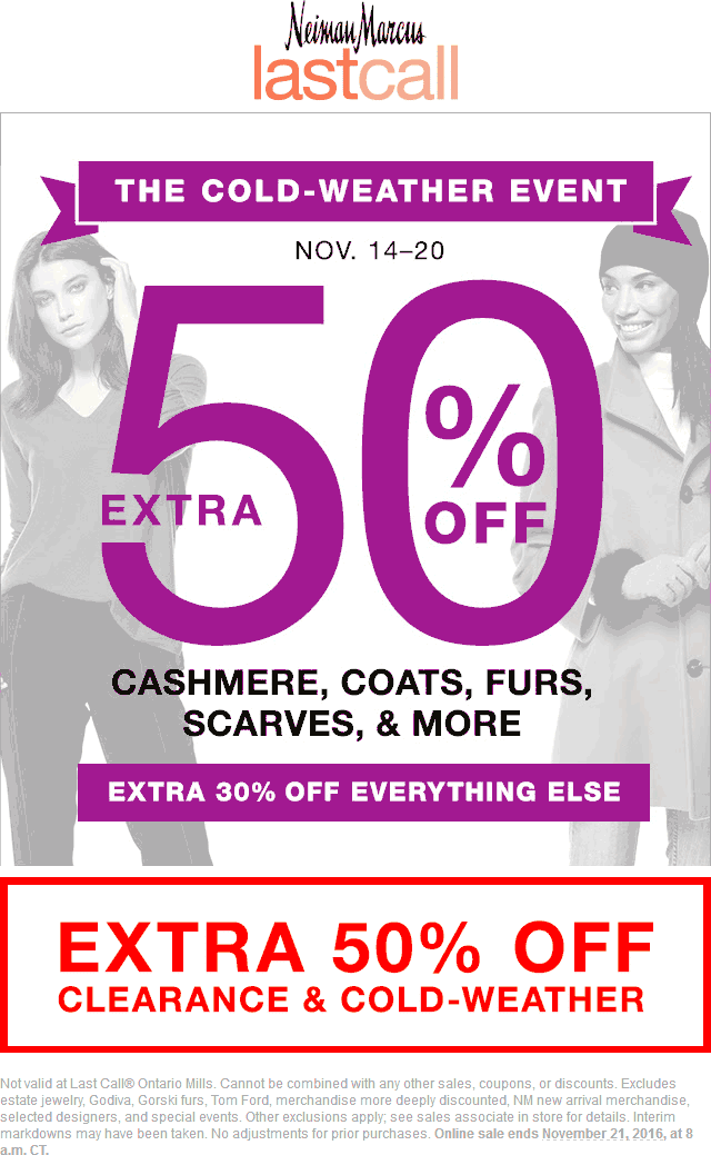 Last Call Cyber Week Codes, Promos & Sales | Last Call By Neiman Marcus. For Last Call coupon codes and sales, just follow this link to the website to browse their current offerings.