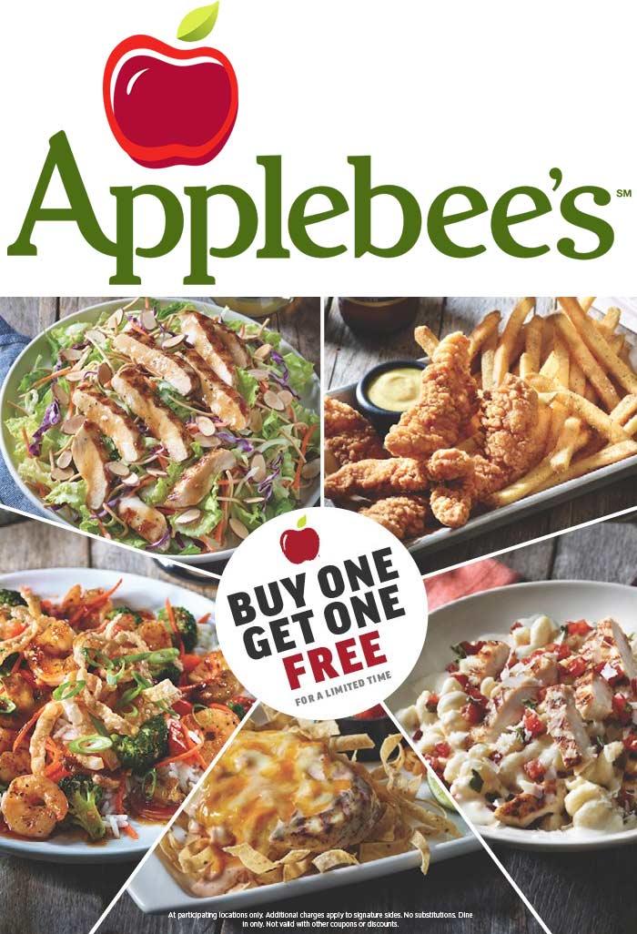 Applebees promo coupons