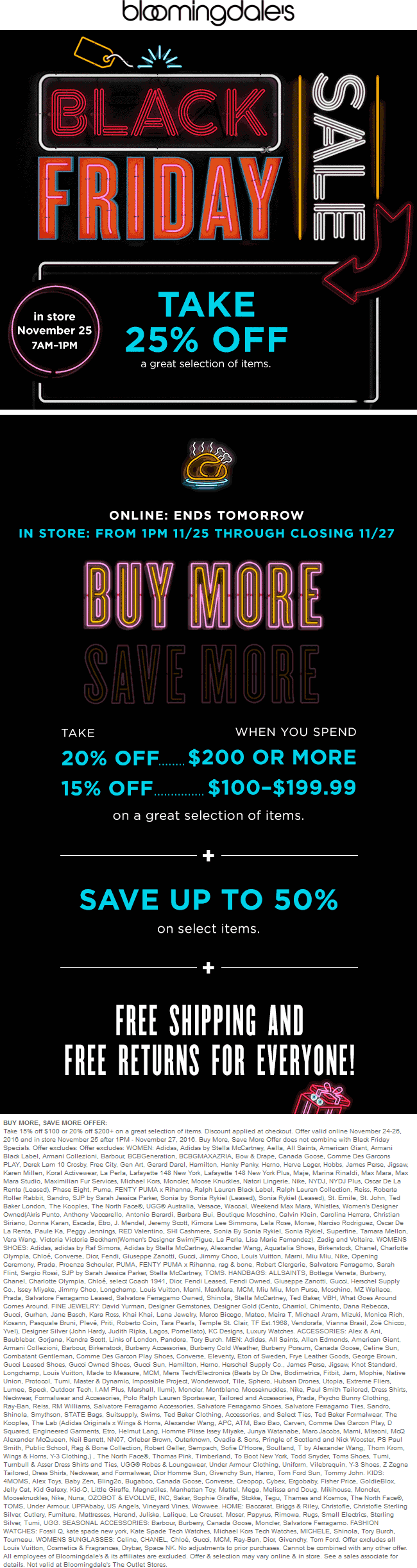Bloomingdales.com Promo Coupon 25% off & more at Bloomingdales, ditto online
