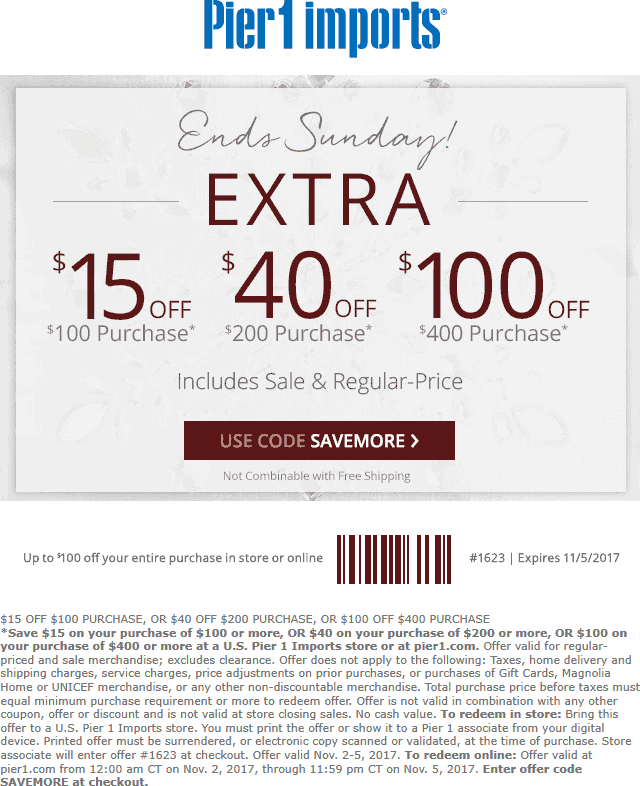It is an image of Exhilarating Pier One Coupon Printable