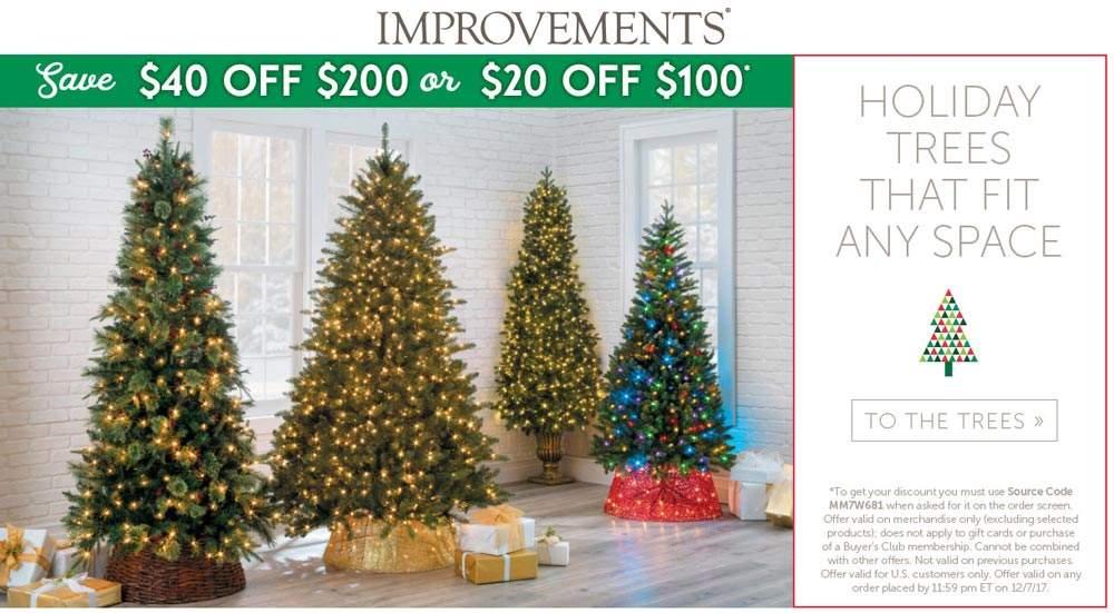 Improvements.com Promo Coupon $20 off $100 & more online at Improvements catalog via promo code MM7W681
