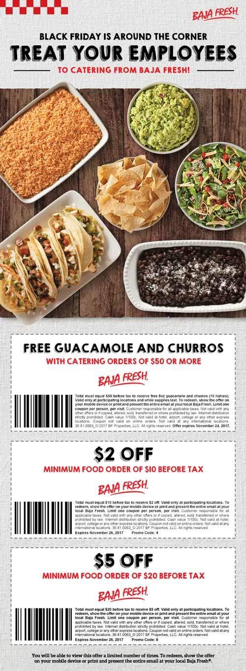 BajaFresh.com Promo Coupon $2 off $10 & more at Baja Fresh restaurants