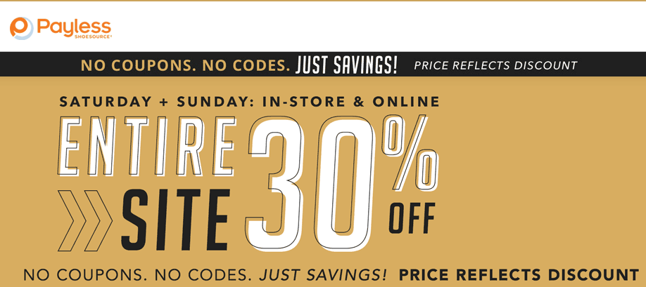 Payless Shoesource Coupon March 2019 Everything is 30% off at Payless Shoesource, ditto online