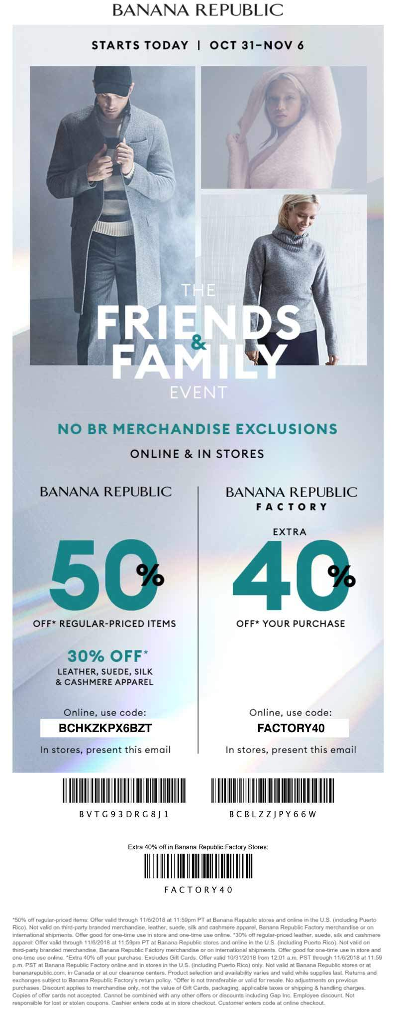 Banana Republic Coupon February 2019 50% off at Banana Republic, or online via promo code BCHKZKPX6BZT
