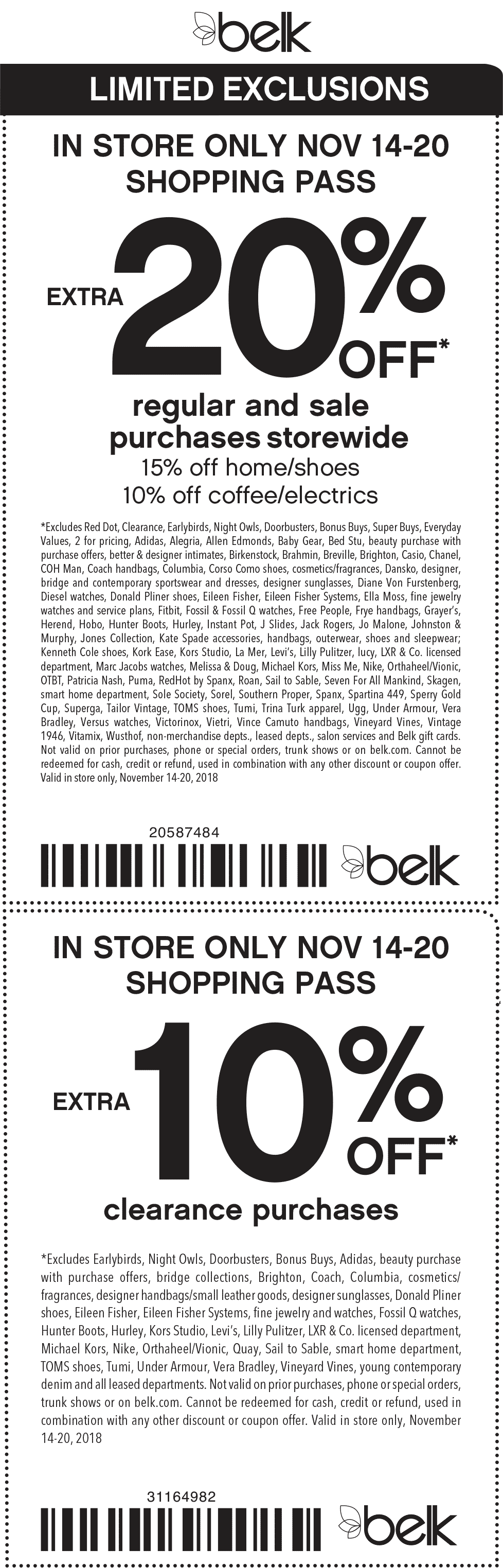 Belk Coupon May 2019 Extra 20% off at Belk