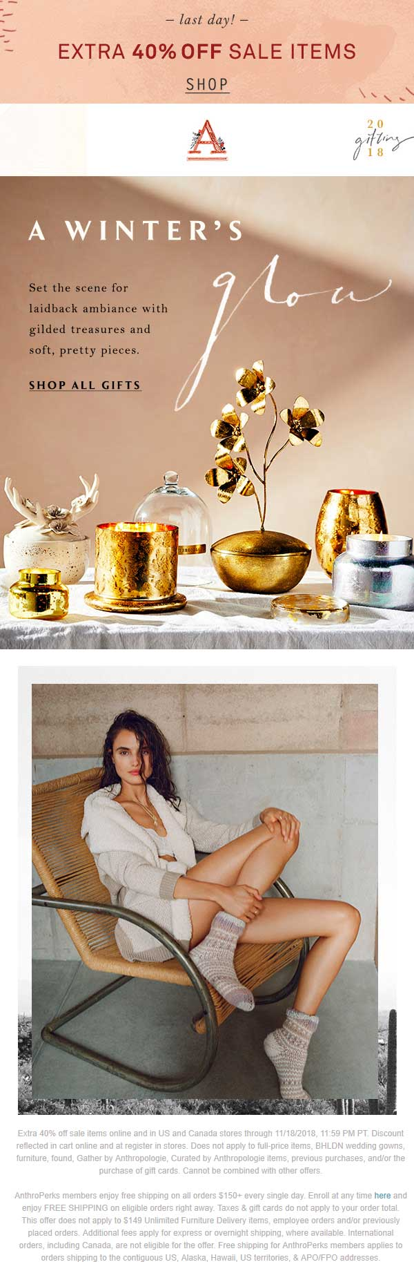 Anthropologie Coupon May 2019 Extra 40% off sale items today at Anthropologie, ditto online