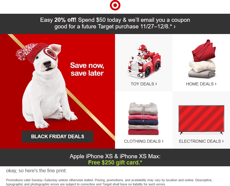 Target Coupon May 2019 20% off everything with $50 spent today at Target, ditto online
