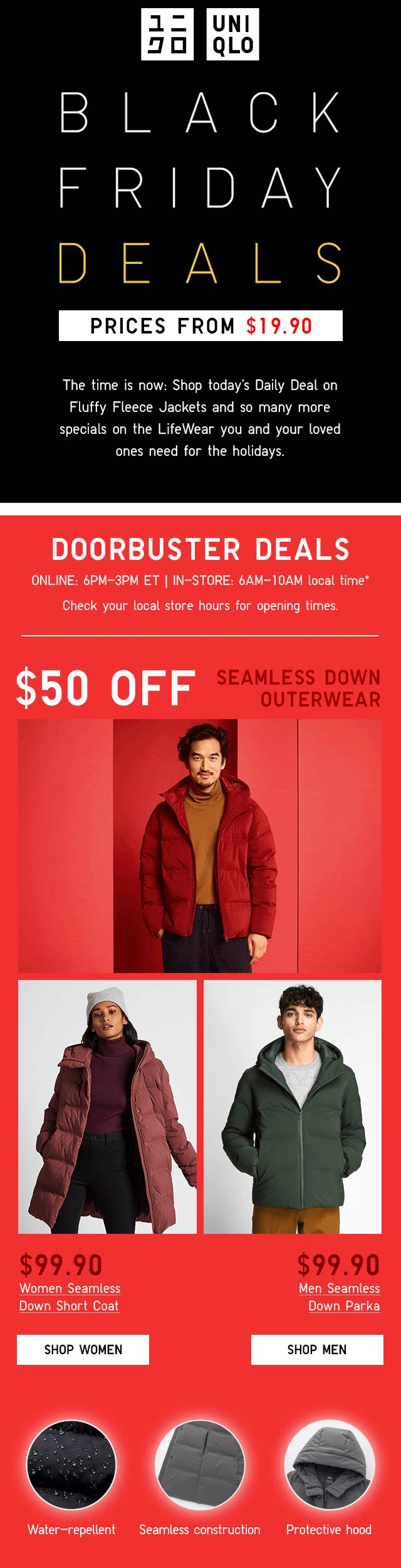 Uniqlo Coupon December 2019 $50 off down outerwear & more today at Uniqlo, ditto online