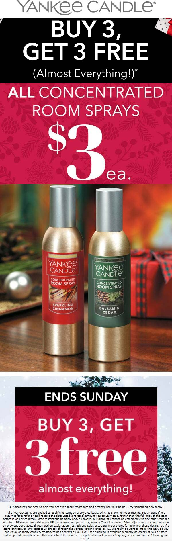 Yankee Candle Coupon December 2019 6-for-3 on everything at Yankee Candle, ditto online