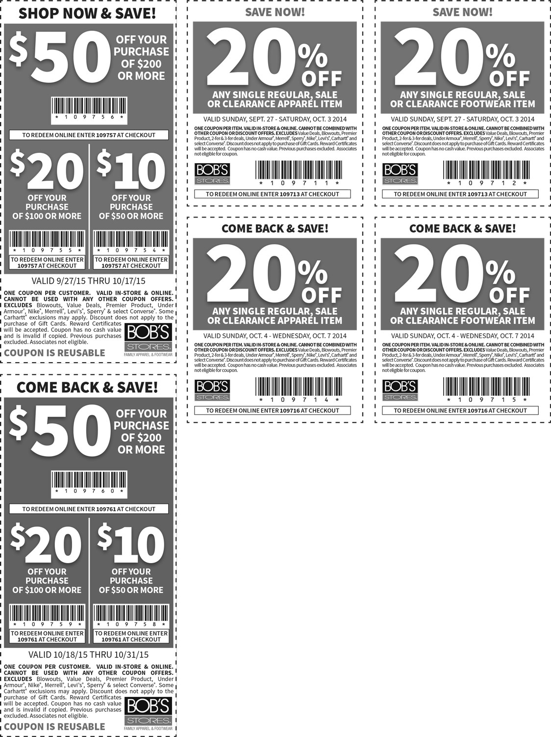 Bobs Stores Coupon August 2017 $10 off $50 & more at Bobs Stores, or online via promo code 109757