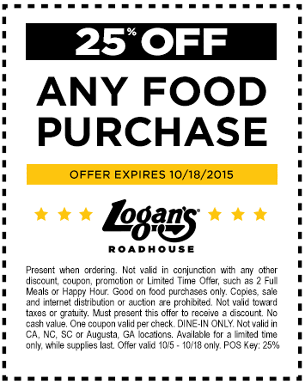 Logans Roadhouse Coupon February 2018 25% off at Logans Roadhouse
