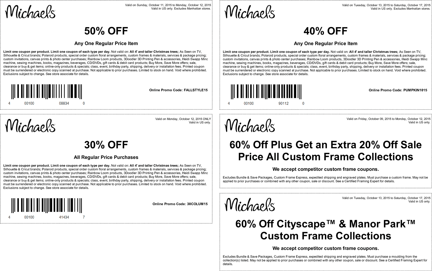 Michaels Coupon April 2017 50% off a single item & more at Michaels, or online via promo code FALLSTYLE15