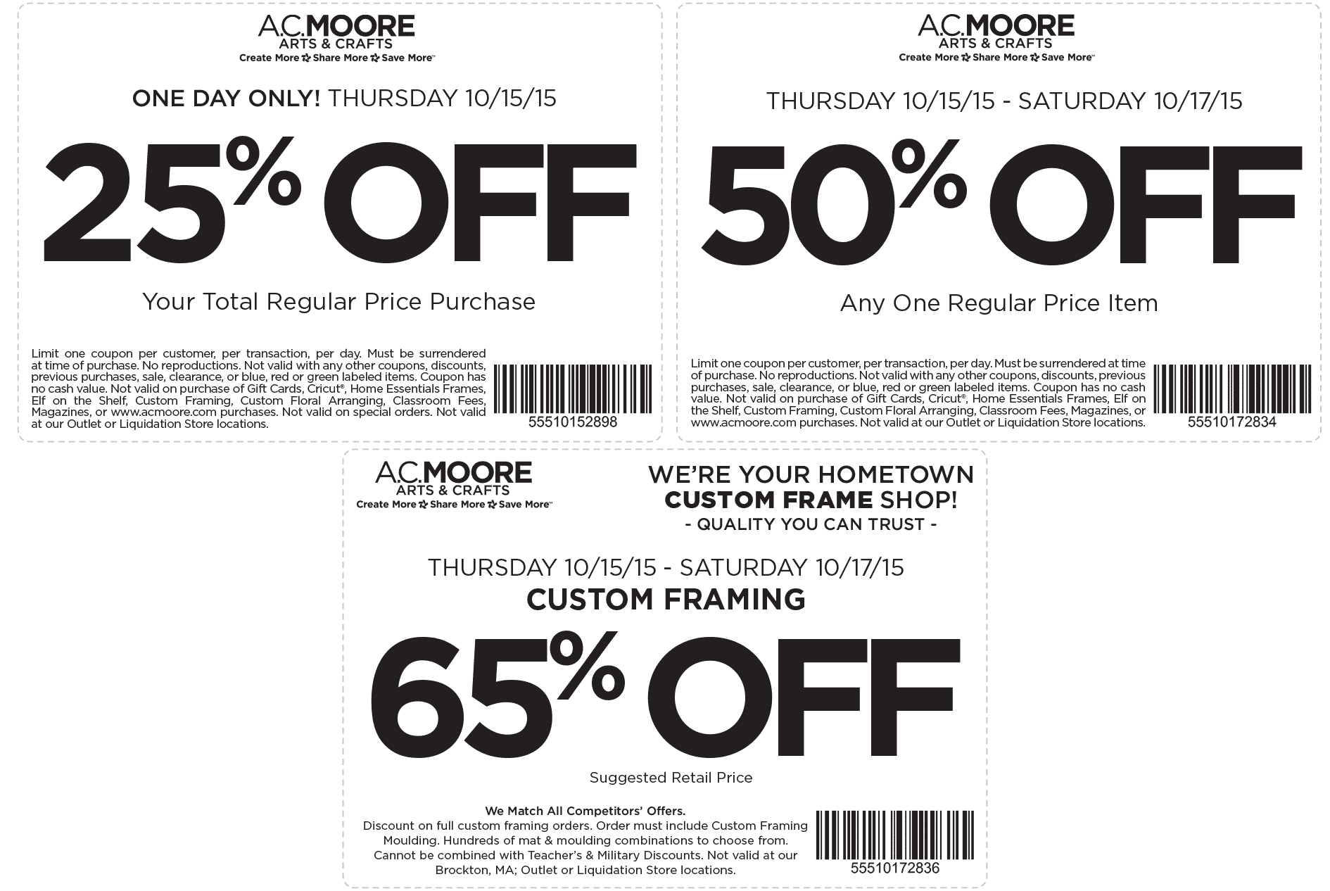 A.C. Moore Coupon June 2017 50% off a single item & more at A.C. Moore
