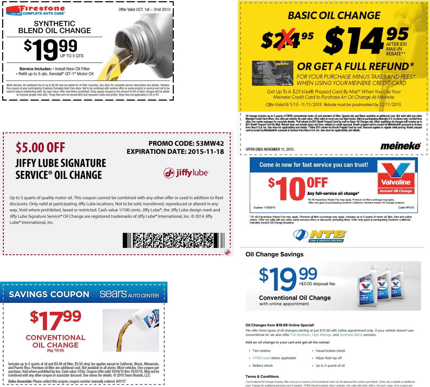 Oil Change Coupon March 2019 Various savings on an Oil Change