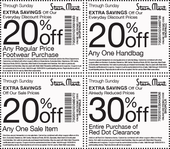 Stein Mart Coupon February 2017 Extra 20% off a single sale item & more at Stein Mart, or online via promo code SHOPSALE