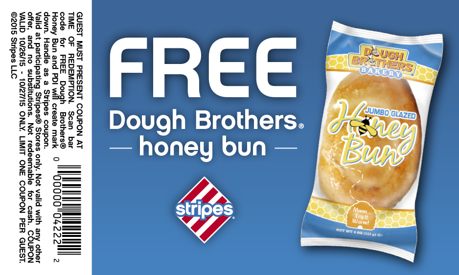 Stripes Coupon July 2018 Free honey bun today at Stripes gas stations