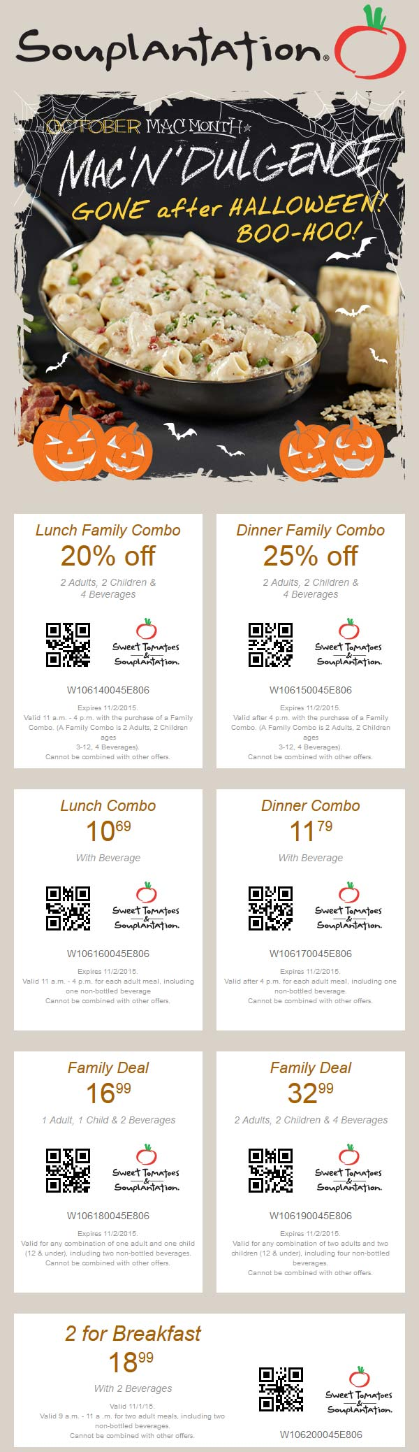 Sweet Tomatoes Coupon August 2017 20% off lunch, 25% off dinner & more at Souplantation & Sweet Tomatoes