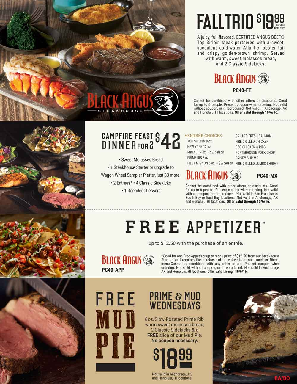 Black Angus Coupon October 2017 Free appetizer with your entree & more at Black Angus steakhouse