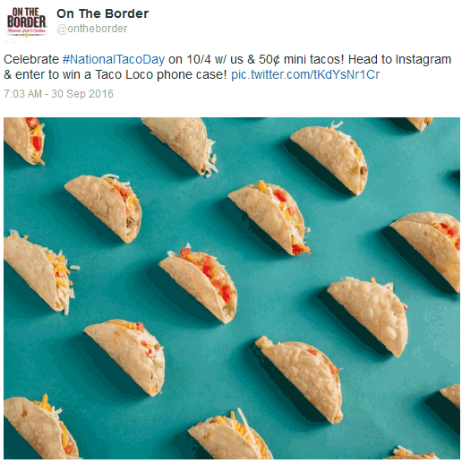 On The Border Coupon May 2017 50 cent tacos today at On The Border restaurants