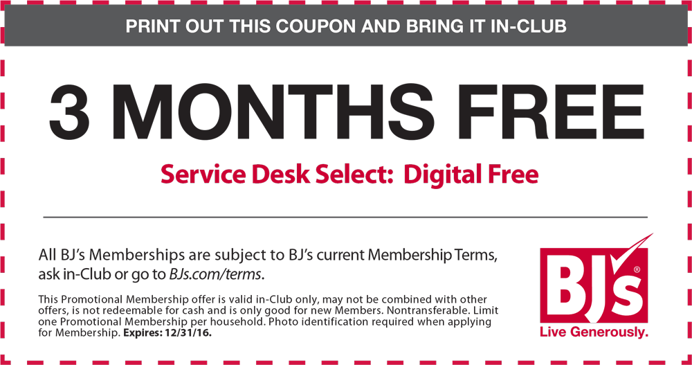 BJs Warehouse Coupon January 2018 3 months free at BJs Warehouse club