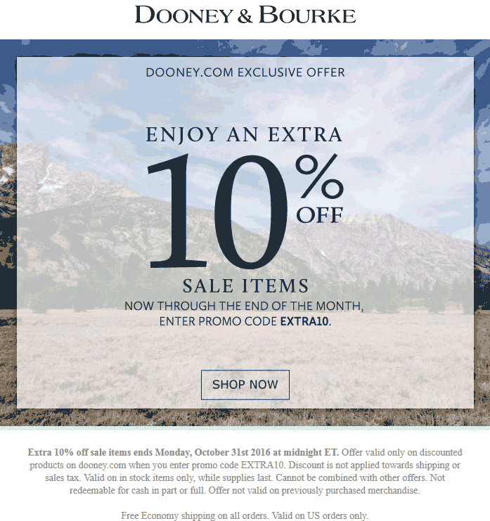 Dooney&Bourke.com Promo Coupon Extra 10% off sale items online at Dooney & Bourke via promo code EXTRA10