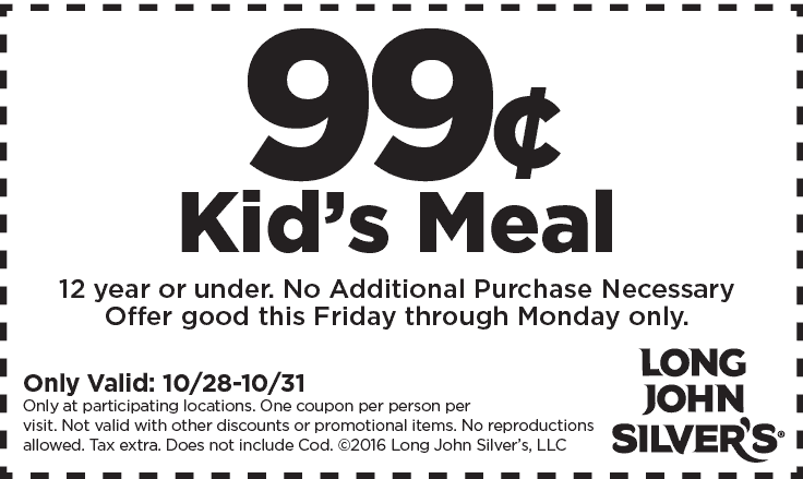 99 Cent Kids Meal At Long John Silvers