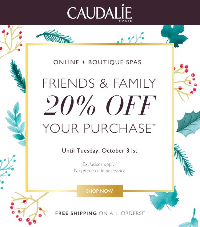 Caudalie Coupon March 2019 20% off at Caudalie, ditto online
