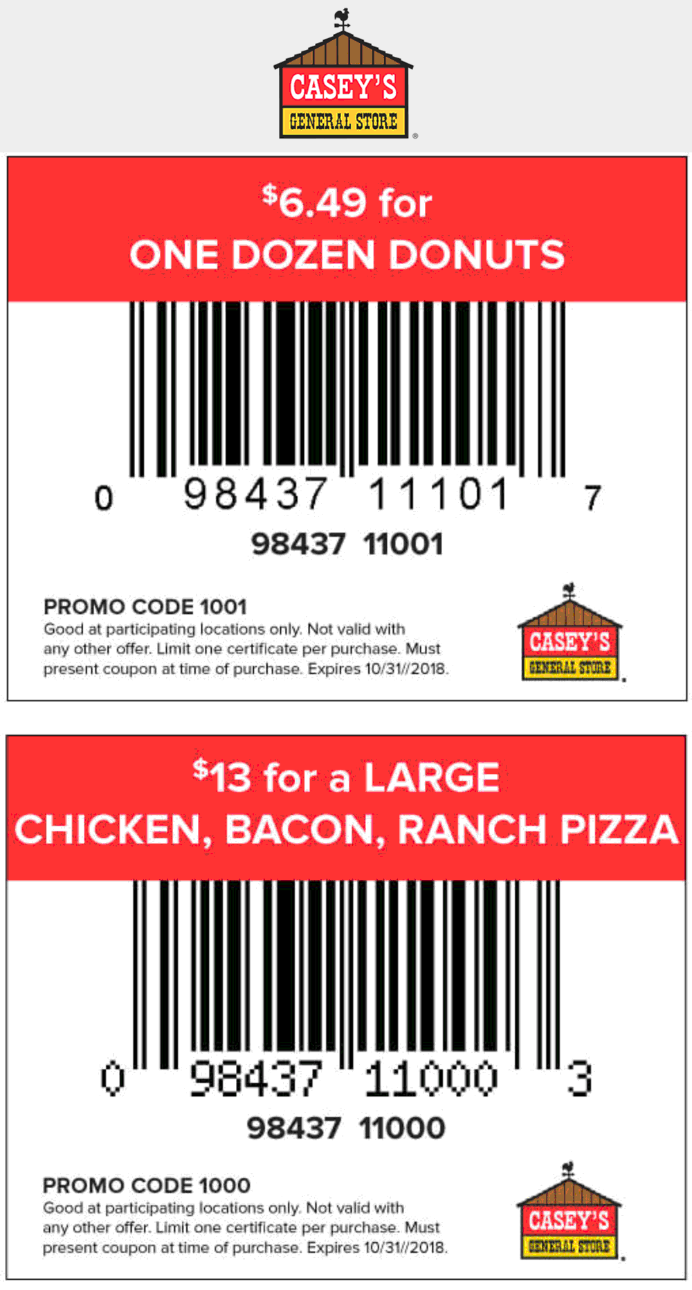 Caseys General Store Coupon July 2019 Discounted pizza & donuts at Caseys General Store