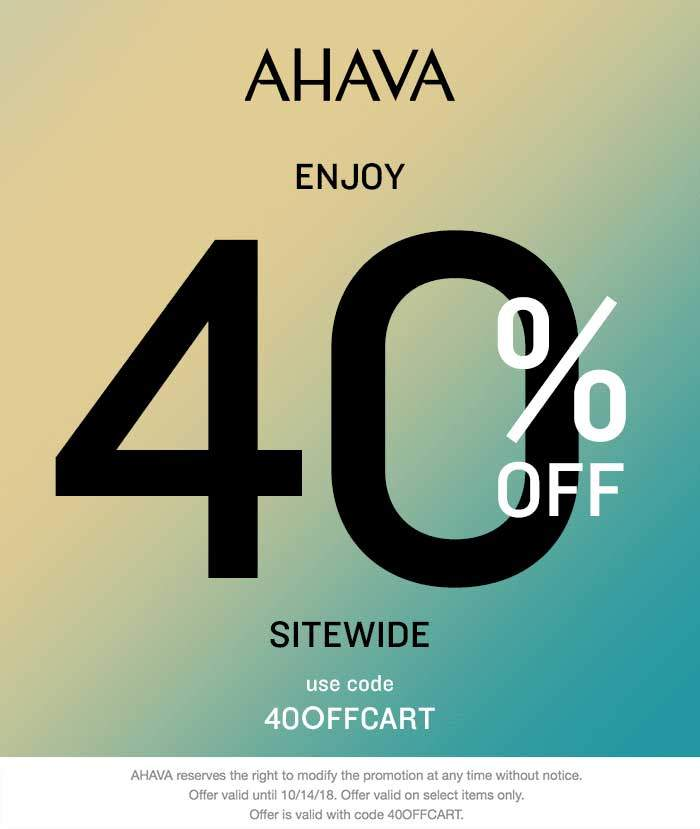 AHAVA Coupon July 2019 40% off everything online at AHAVA via promo code 40OFFCART