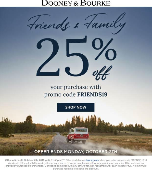 Dooney & Bourke Coupon October 2019 25% off online at Dooney & Bourke via promo code FRIENDS19