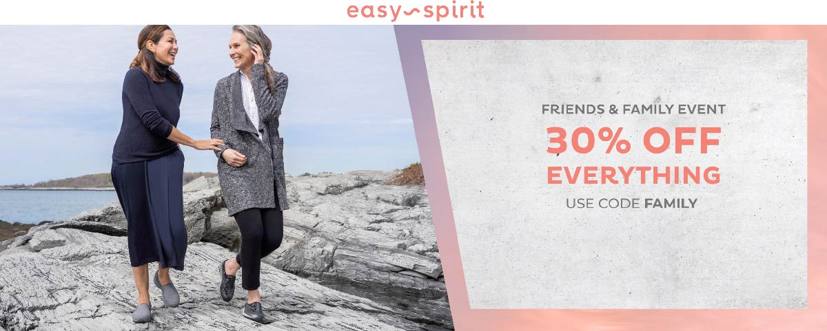 Easy Spirit Coupon November 2019 30% off everything at Easy Spirit shoes via promo code FAMILY