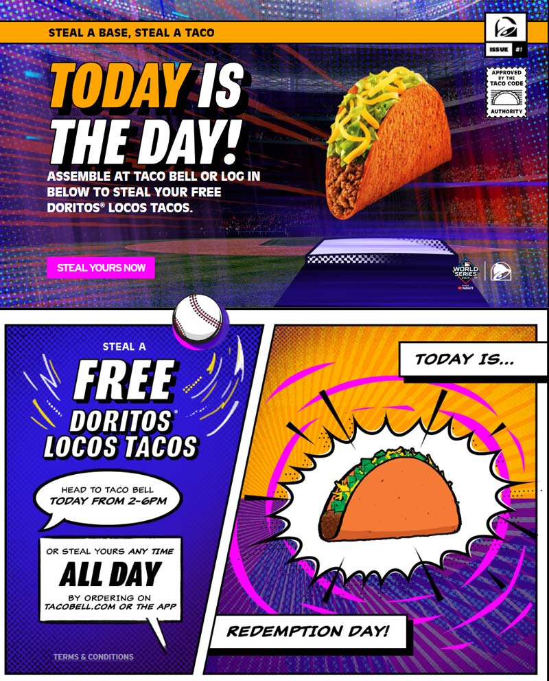 Taco Bell Coupon January 2020 Free taco today 2-6p at Taco Bell