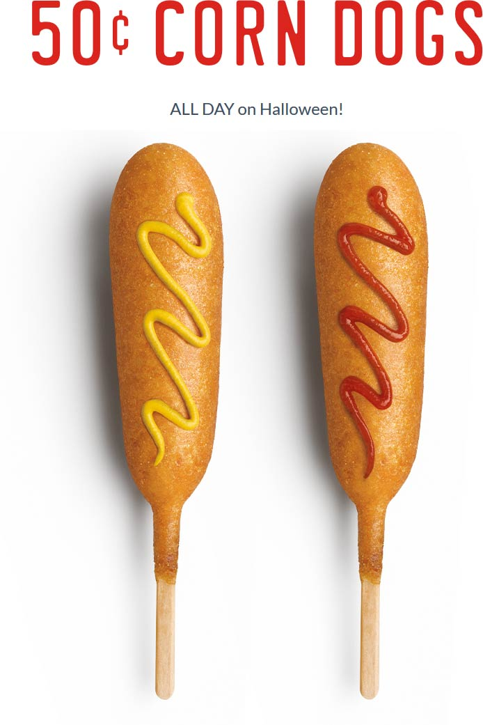 Sonic Drive-In Coupon November 2019 .50 cent corn dogs today at Sonic Drive-In restaurants