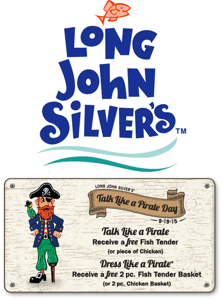 Long John Silvers Coupon November 2017 Free fish or chicken tender & more the 19th at Long John Silvers