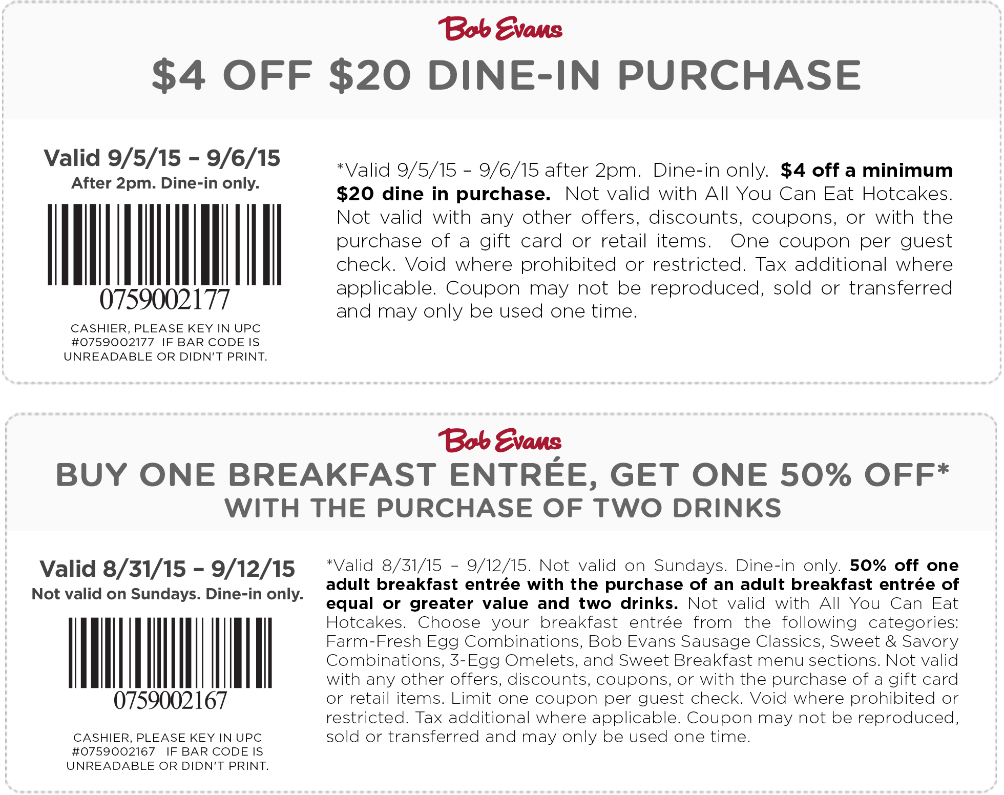 Bob Evans Coupon January 2017 $4 off $20 after 2pm & more at Bob Evans restaurants
