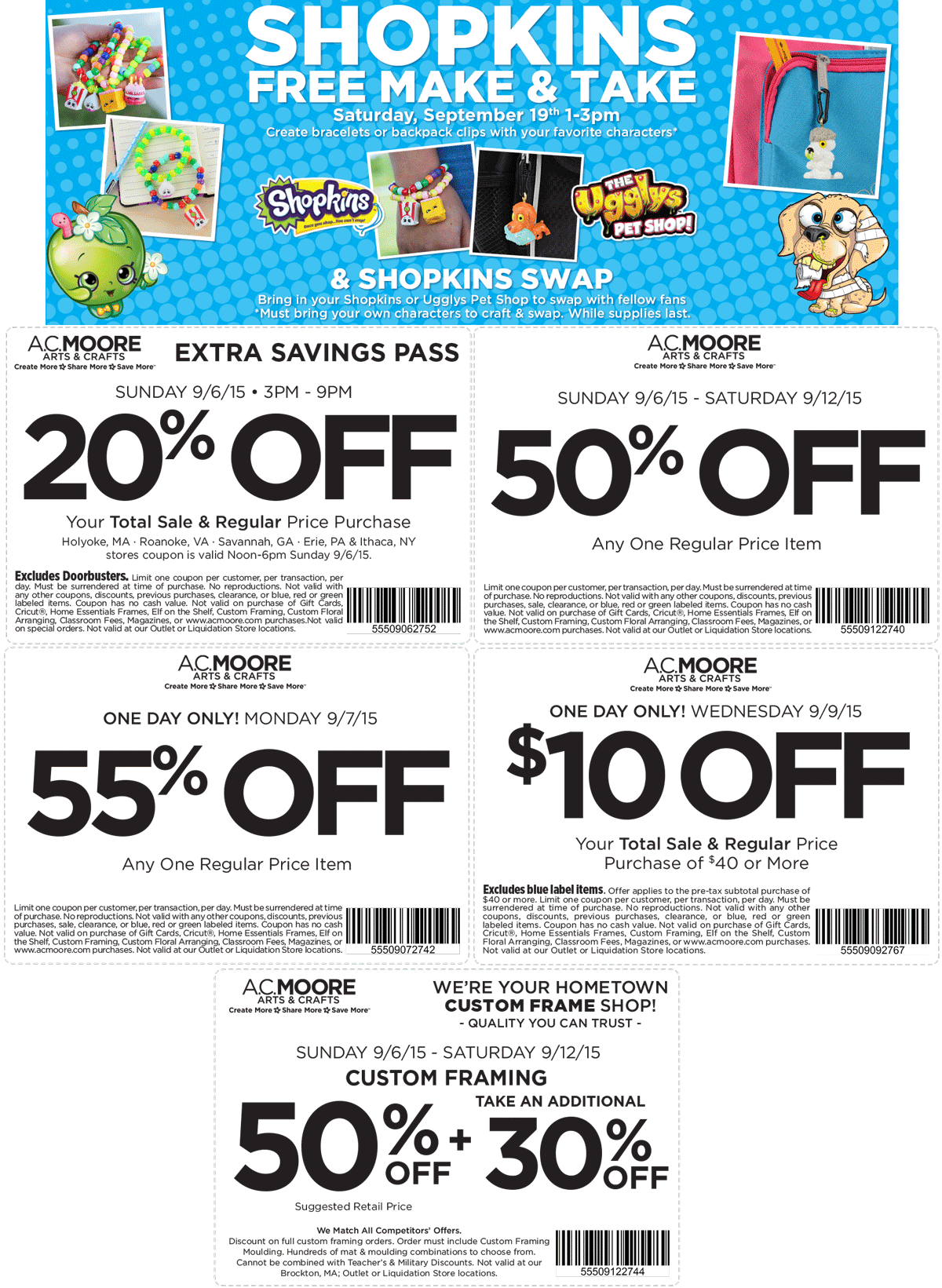 A.C. Moore Coupon February 2017 50% off a single item & more at A.C. Moore