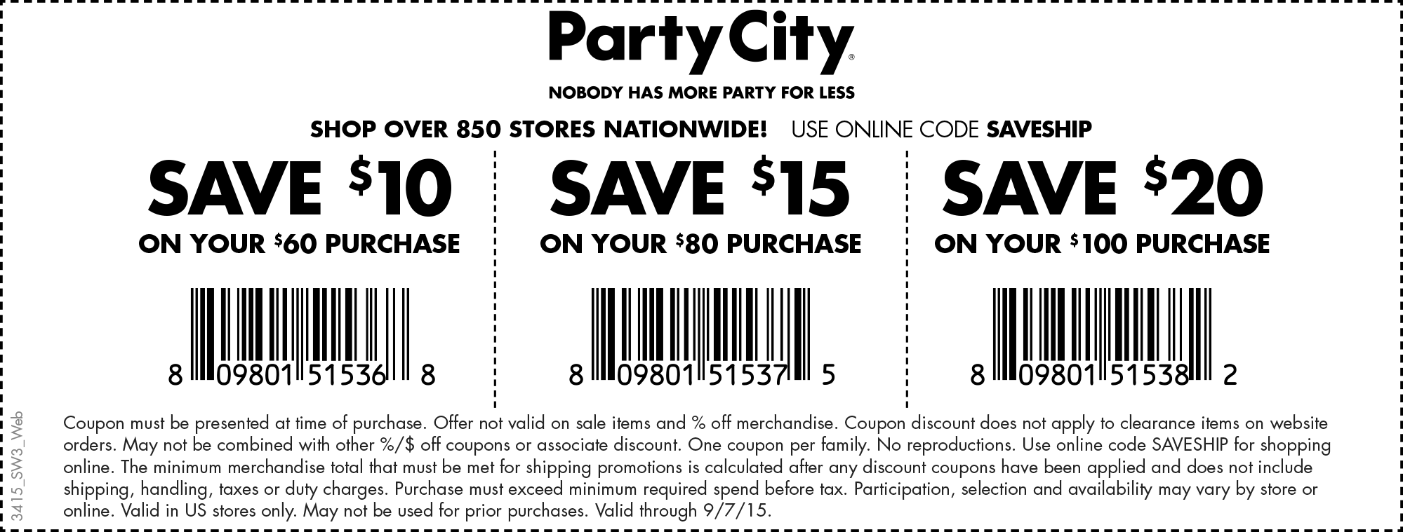 Party City Coupon May 2017 $10 off $60 & more at Party City, or online via promo code SAVESHIP