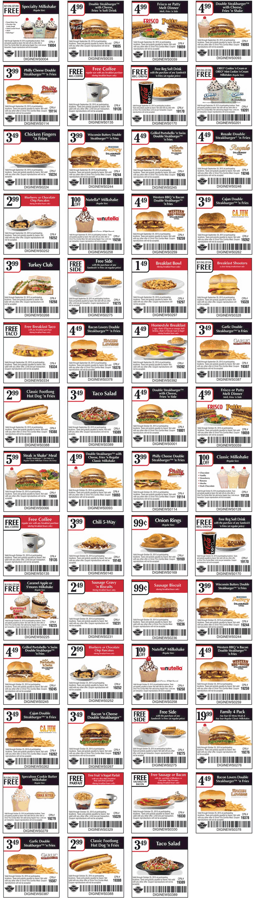 Steak n Shake Coupon April 2018 Free coffee, second milkshake free & more at Steak N Shake restaurants
