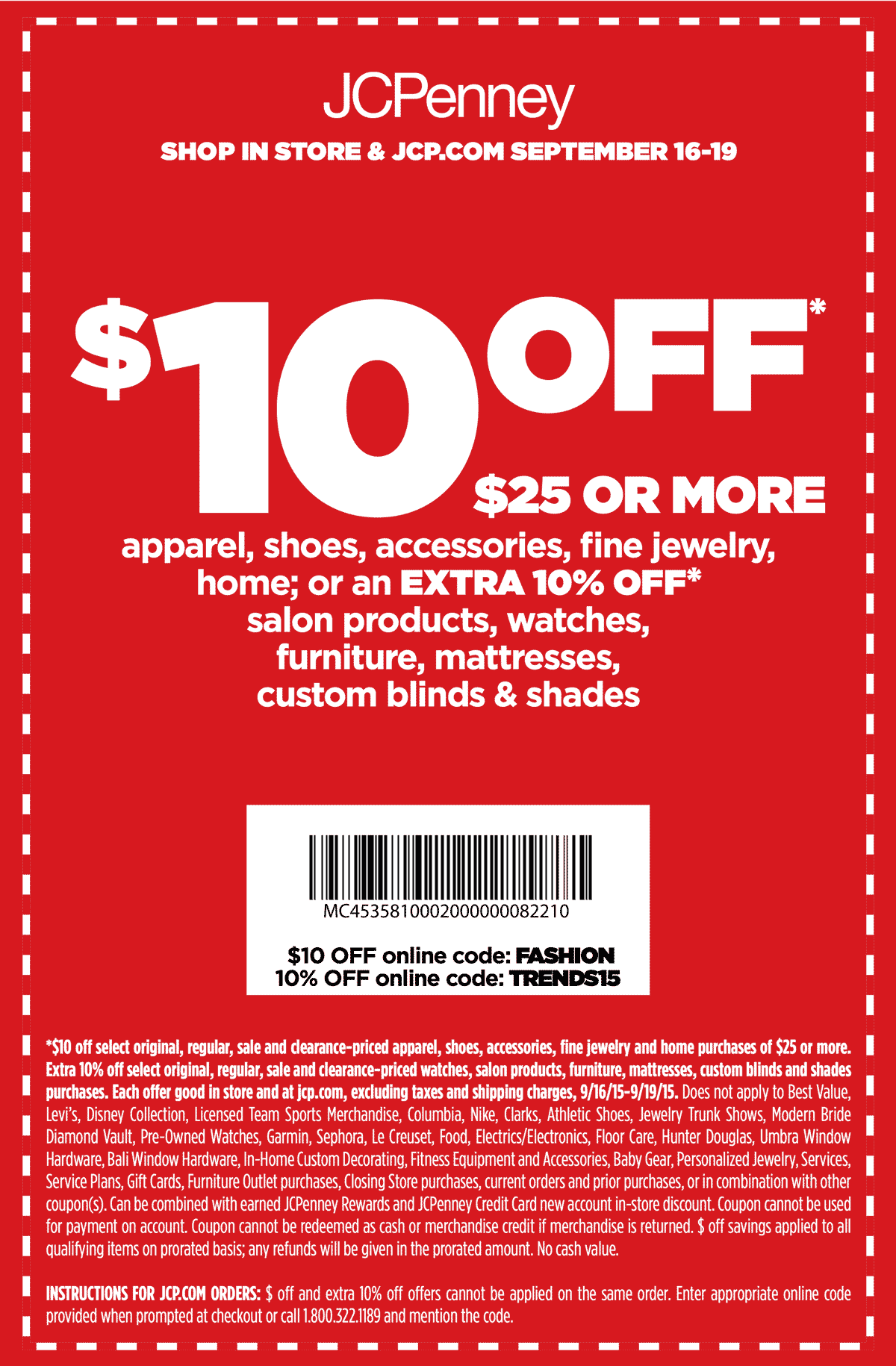 JCPenney Coupon April 2017 $10 off $25 at JCPenney, or online via promo code FASHION
