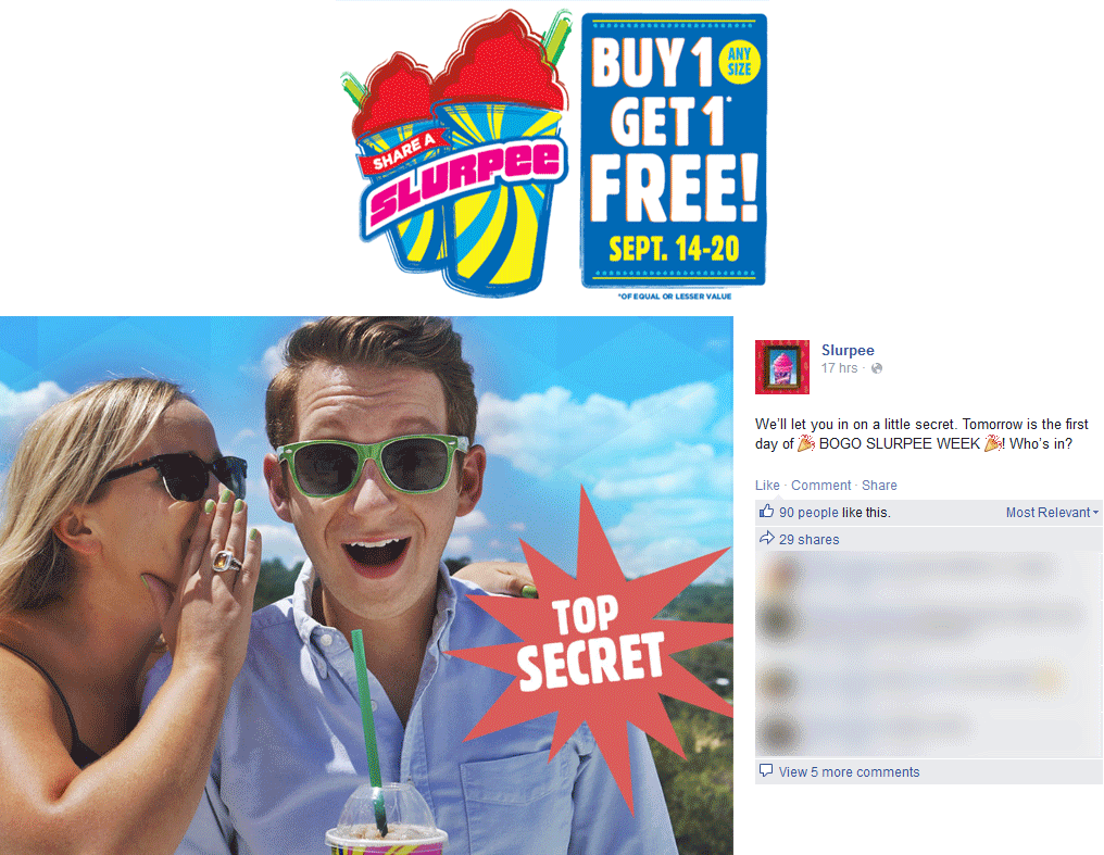 7-Eleven Coupon December 2016 Second slurpee free at 7-Eleven