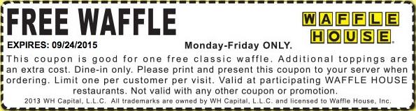 Waffle House Coupon February 2017 Free waffle at Waffle House