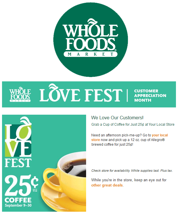 Whole Foods Coupon July 2017 Cheap 12oz hot brewed coffee this month at Whole Foods