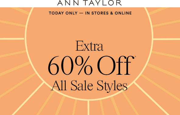 Ann Taylor Coupon May 2017 Extra 60% off sale styles today at Ann Taylor, ditto online