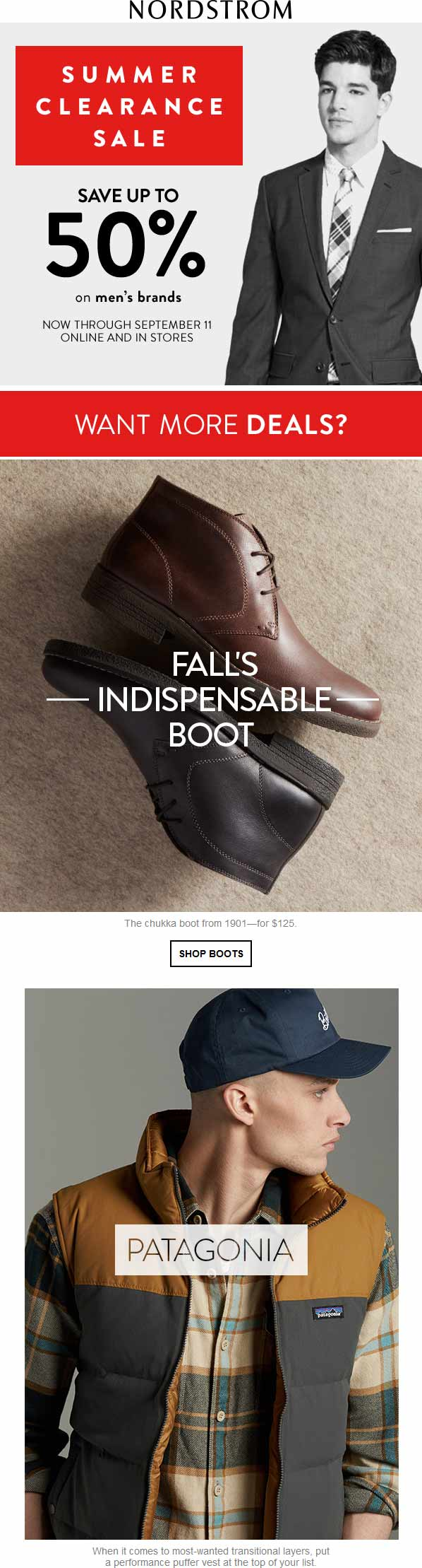 Nordstrom.com Promo Coupon Mens 50% clearance sale going on at Nordstrom, ditto online